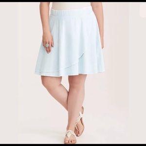 Torrid light blue mineral wash skirt